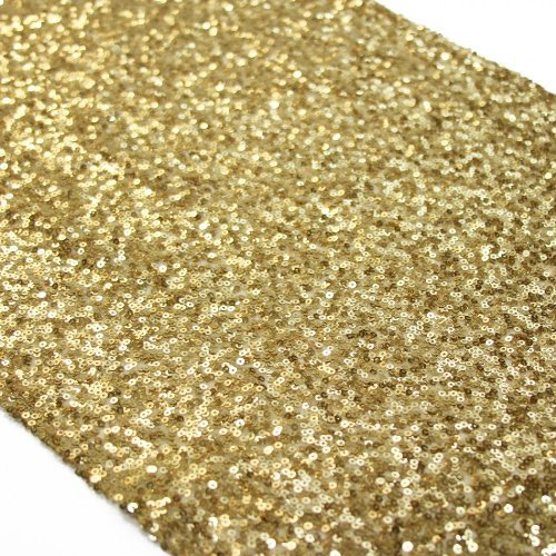 Koyal Wholesale Sequin Table Runner, 12 by 108-Inch, (Birthday Table Cover)