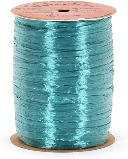 Berwick Offray 1//4 Wide Pearlized Raffia Ribbon 100 Yards Blue