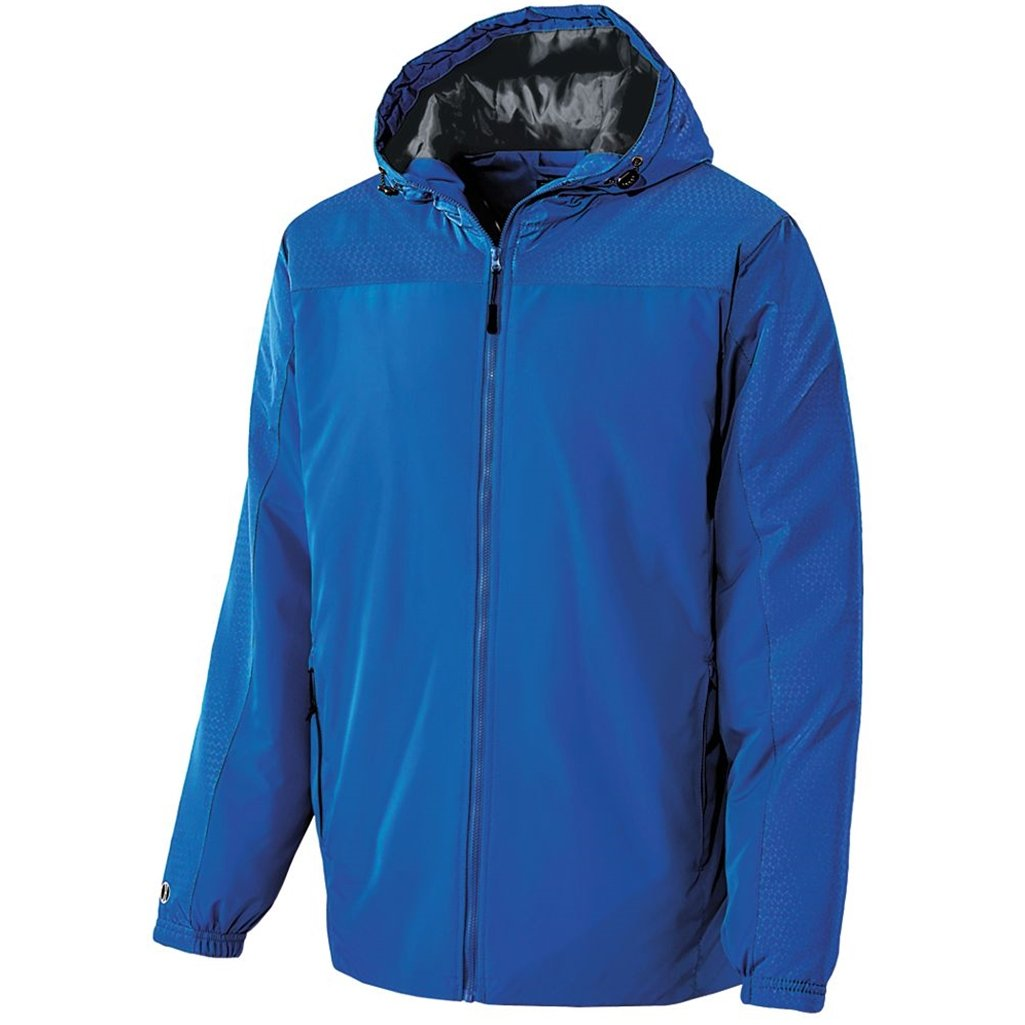 Holloway Youth Bionic Hooded Jacket (Small, Royal/Carbon)