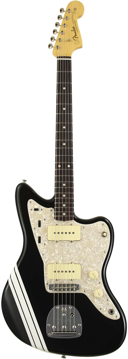 Fender Custom Shop 62 Jazzmaster Closet Classic Black with White Competition Stripe   B078RFM4YJ