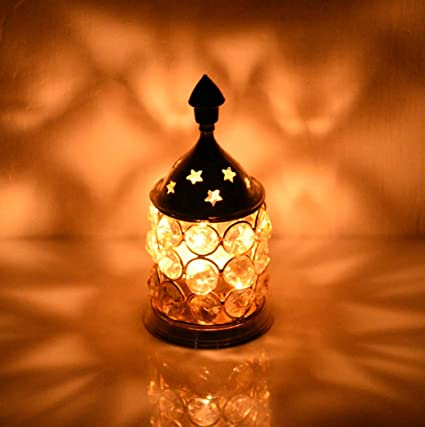 Collectible India Brass Akhand Diya Oil Lamp (14 cm x 12 cm x 12 cm)