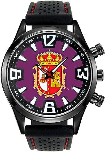 Timest - Bandera de Burgos España - Reloj para Hombre con Correa de Silicona Negro Analógico Cuarzo SF530: Timest: Amazon.es: Relojes