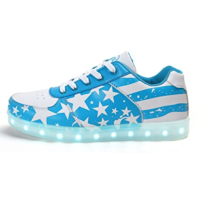 Youth Pace Unisex Light Up Shoes USA Flag For Kid and Youth Led Shoes Boys ( 5139f4c111