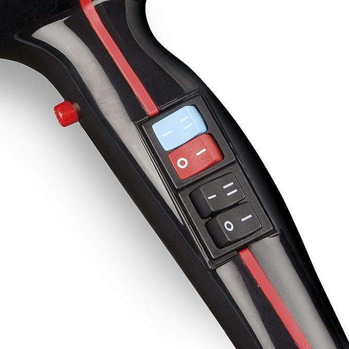 G3 Ferrari G30003 - Secador de pelo iónico profesional, 2000W, color negro y rojo: Amazon.es: Salud y cuidado personal