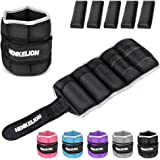 Henkelion 1 Pair 2 3 5 4 6 10 Lbs Adjustable Ankle Weights for Women Men Kids, Wrist Weights Sets for Gym, Fitness…