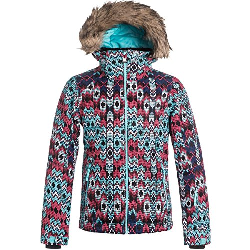 Roxy Big Girls' American Pie Snow Jacket, Sequin Paradise...