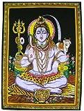Beautiful Meditating Shiva Yoga Tapestry 30 X 43 Inches