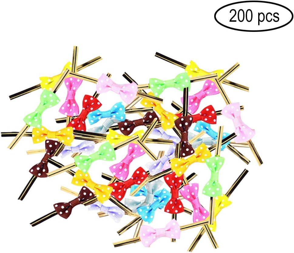 Funhoo 200Pcs Lazos Decorativos Alambre Metálico, 10 Colores ...