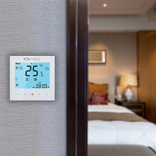 BECA WIFI Termostato Para Calefacción Central De Dos Tubos / Ventilador De Enfriamiento Aire Acondicionado Central Control Inalámbrico Termóstato ...