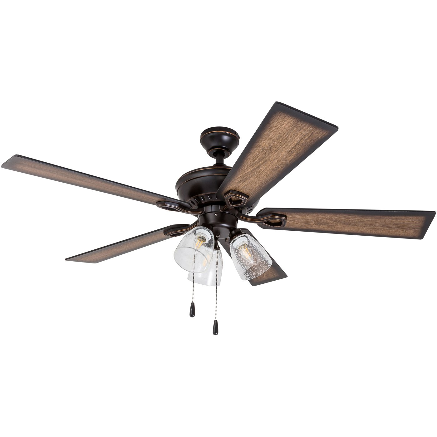 Prominence Home 40278-01 Glenmont Barnwood Blades, Rustic, Contemporary LED Ceiling Fan, 52 inches, Bronze by Prominence Home