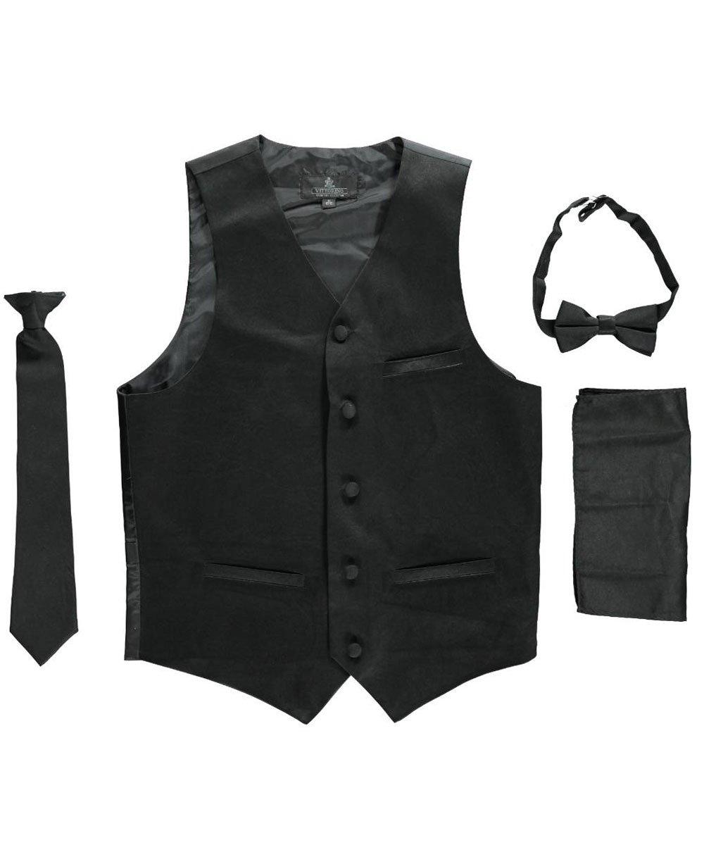 Vittorino Big Boys' 4-Piece Vest & Accessories Set 14-16