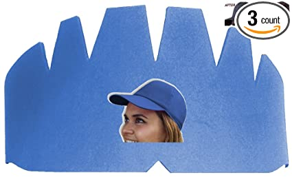 Amazon.com   3Pk. Light Blue Baseball Caps Inserts a73878910ee