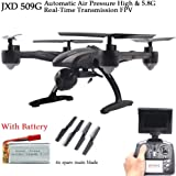 JXD 509G 5.8G FPV with 2.0MP HD Camera High Hold Mode Headless Mode One Key Return RC Quadcopter Drone with Extra Battery