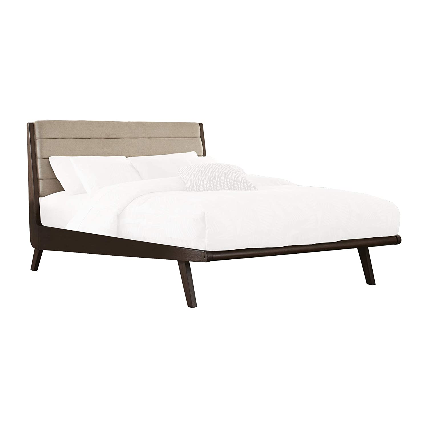 Lexicon Ruote Low-Profile Platform Bed Queen Brown