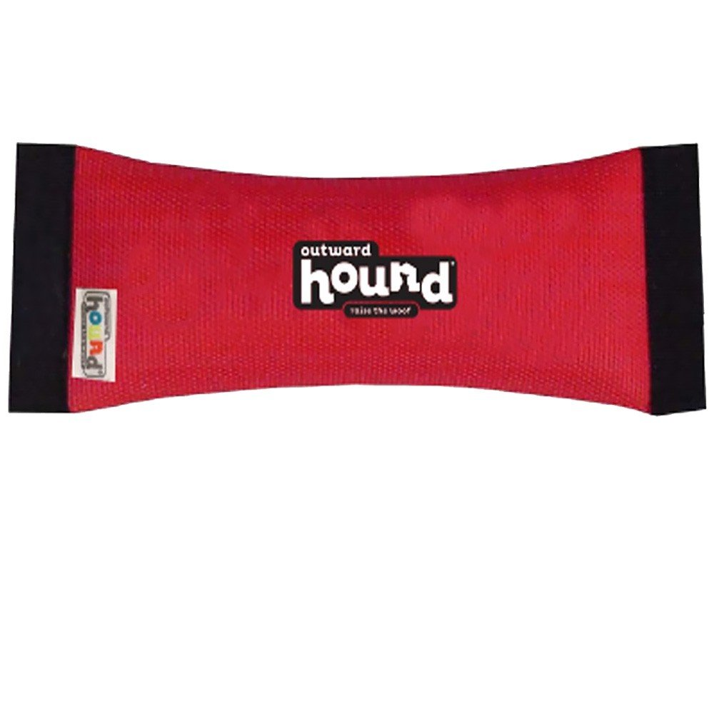 Outward Hound FireHose Dog Toss & Fetch Toy, Red