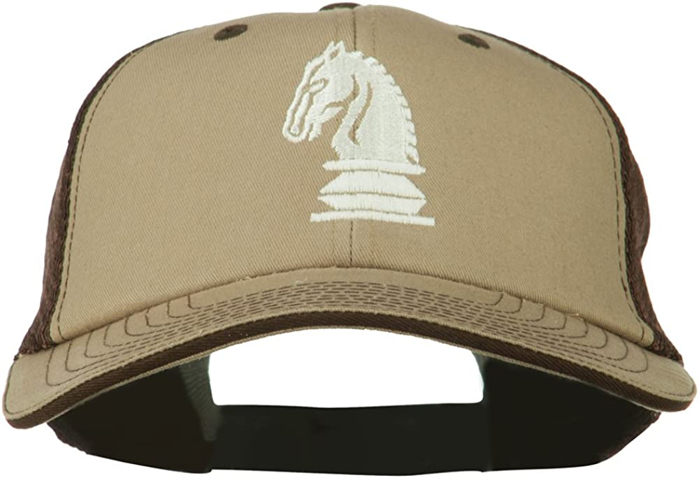 e4Hats.com Chess Knight Embroidered Big Size Washed Mesh Cap