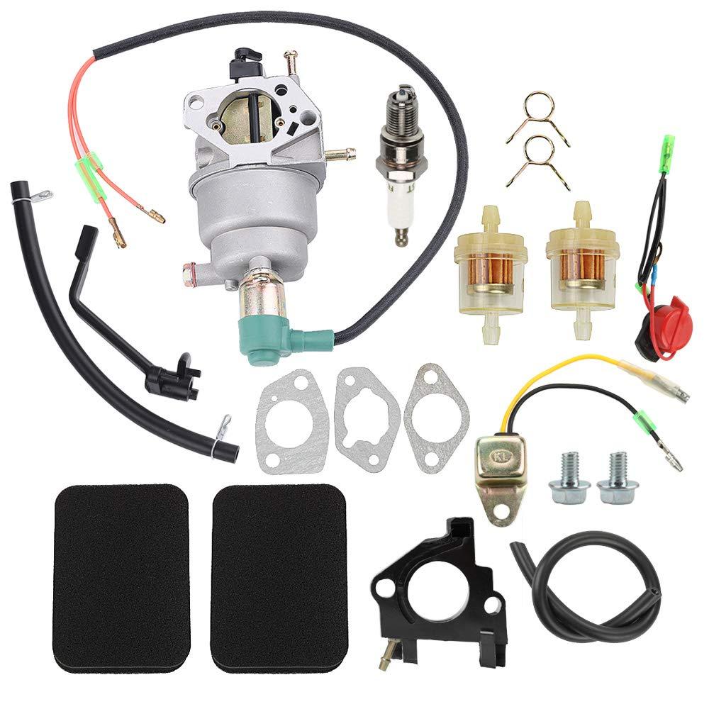 Hayskill 0G8442A111 Carburetor Carb for Generac GP5000 GP5500 GP6500 GP6500E 5KW 5.5KW 6.5KW 389cc Generator with Tune Up Kit Air Filter Fuel Line Spark Plug Gasket