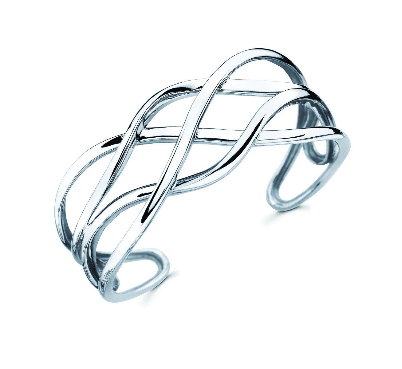 Sterling Silver Fashion Cuff Bracelet (fits 7'' wrist)