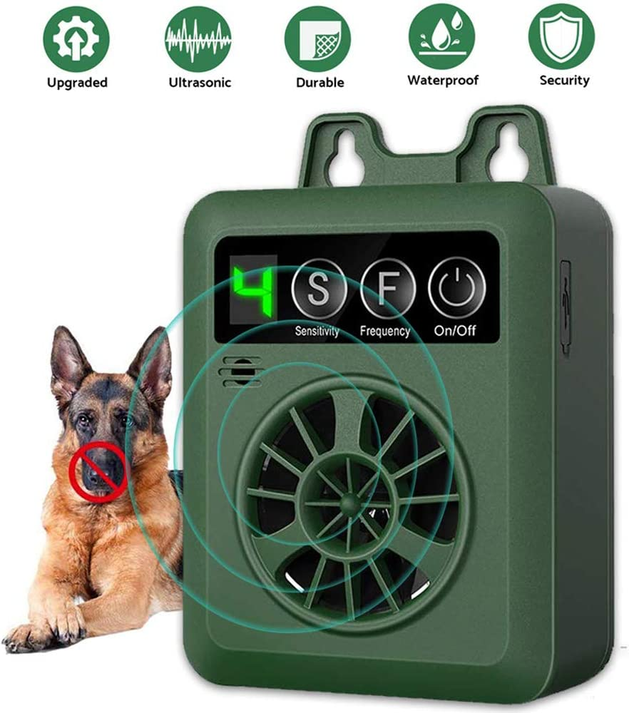 YC° Dog Barking Control Device 50 FT Range Bark Control Device,Upgraded Ultrasound Mini Outdoor Dog Bark Control, Sonic Bark Deterrent, Training Tools