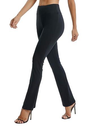 595f688b78 SEASUM Women's Boot-Cut Yoga Pants Bootleg Casual Workout Pants Stretch  Comfy Soft High Waist