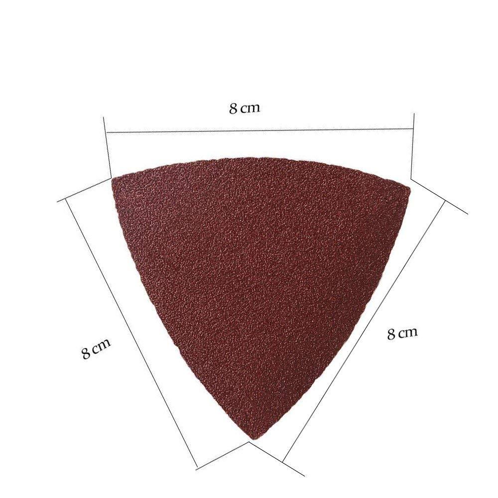 Pack of 50 Triangular Multitool Sandpaper for Wood Sanding Fit 3-1//8 Inch Oscillating Multi Tool Sanding Pad