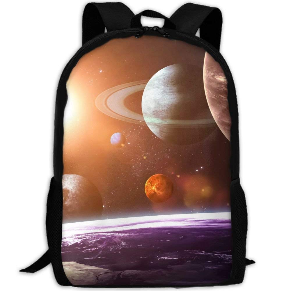 YIXKC Backpack Adult Solar System Planets Space Unique Outdoor Multipurpose Shoulders Bag Daypacks