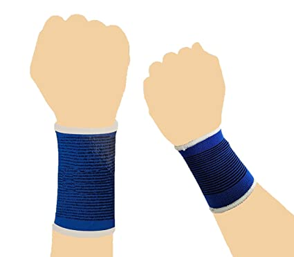 1f437213976042 2 Pcs Wrist Hand Brace Elastic Support Carpal Tunnel Tendonitis Pain Relief  Stretch Wrist Support Brace Wrap Sport Gym Fitness Compression ...
