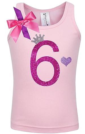 Bubblegum Divas Little Girls 6th Birthday Pink Princess Shirt 4
