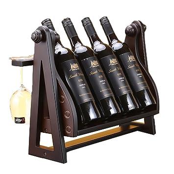 Weinregal Fyxd Swing Stil Haushalt Holz 4 Flaschen Wein