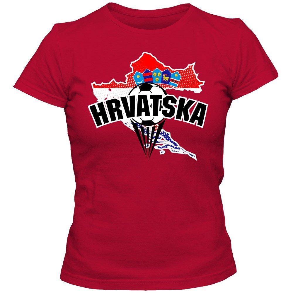 Croacia Campeonato de Europa 2016#1 Camiseta | T-Shirt | Fútbol | Mujer | Hrvatska | Kockasti | Jersey | Equipo Nacional: Amazon.es: Ropa y accesorios