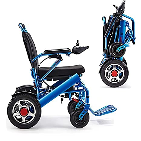 Silla de ruedas eléctrica plegable ligera Cajolg, 360 & Deg ...