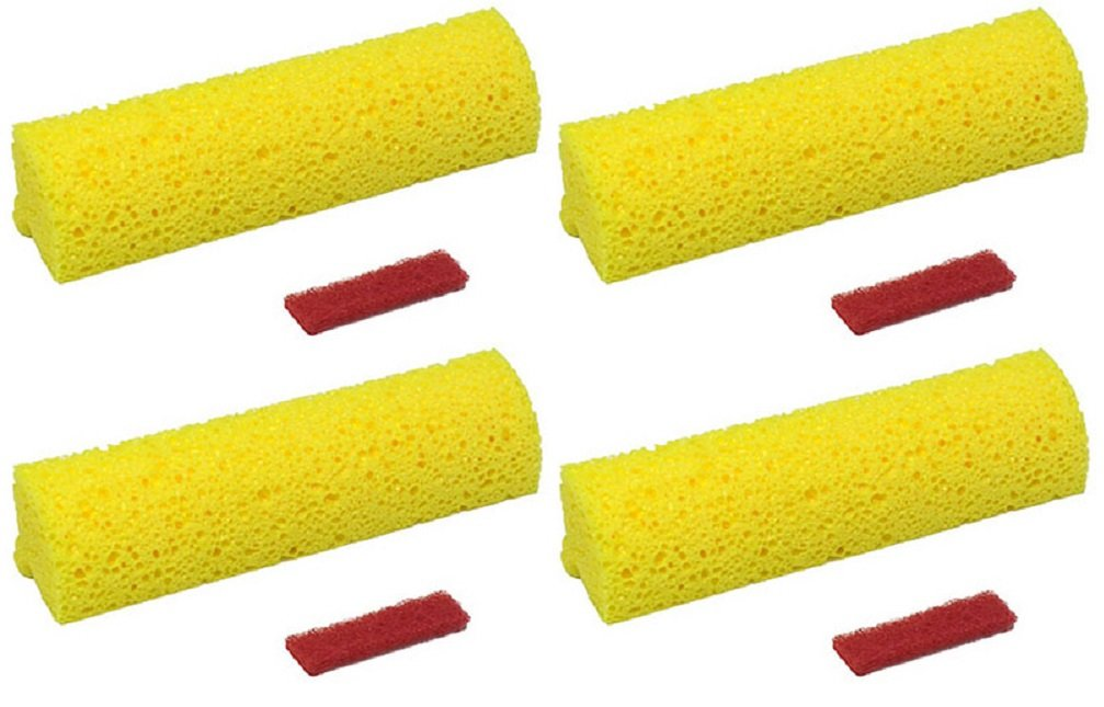 Quickie # 0553RM Automatic Pro Roller Mop Refills - Quantity 4