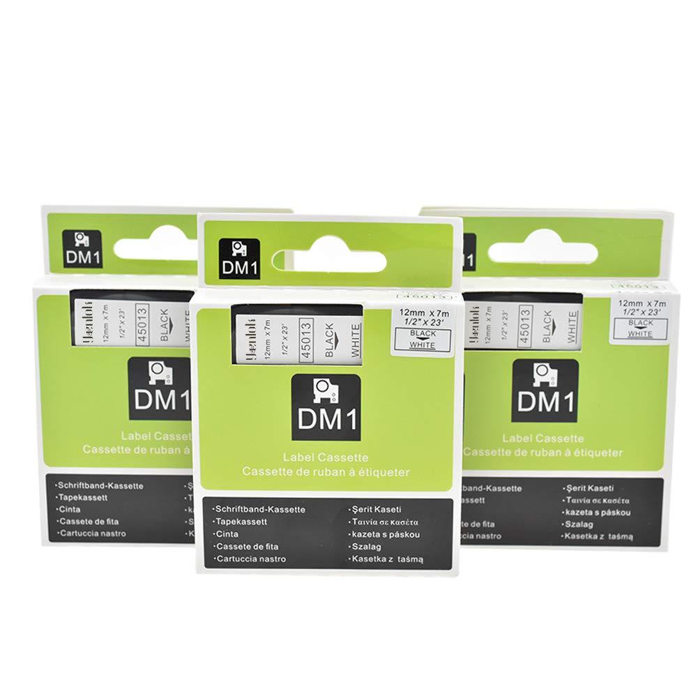 2 PK Cassetta Nastro Cartucce Comaptibili Dymo D1 40913 S0720680 9mm x 7m Nero su Bianco Nastri Etichette per Labelpoint Labelmanager Labelwriter Stampa Adesive Etichettatrice yenlok