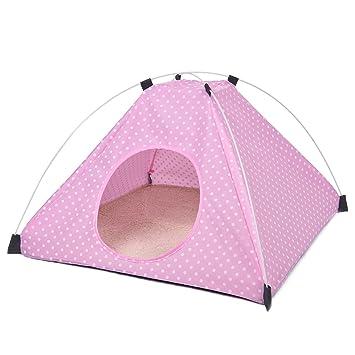 PAWZ Road Cama de Mascota Perro Cachorro de Igloo Tienda de campaña Plegable Transpirable casa caseta de Huellas de Gato Cueva para Viajes Camping en 2 ...