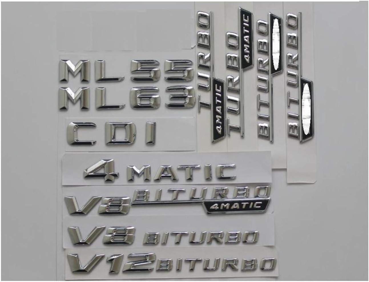 HYBRID Chrome Stamm Buchstaben Abzeichen Emblem Embleme