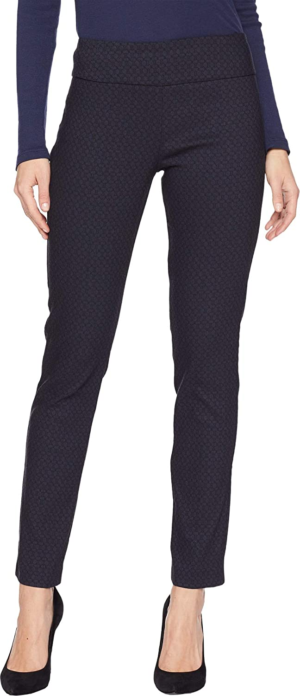 Black bluee Elliott Lauren Womens Hexagon Elastic Waist PullOn Ankle Pants