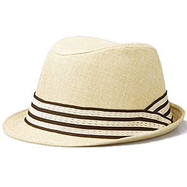 779cea32ebd Trilby Panama Hat Men Boys Straw Summer Hat Natural Color  Amazon.co.uk   Clothing