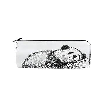 Estuche cilíndrico con forma de oso panda con diseño de ...