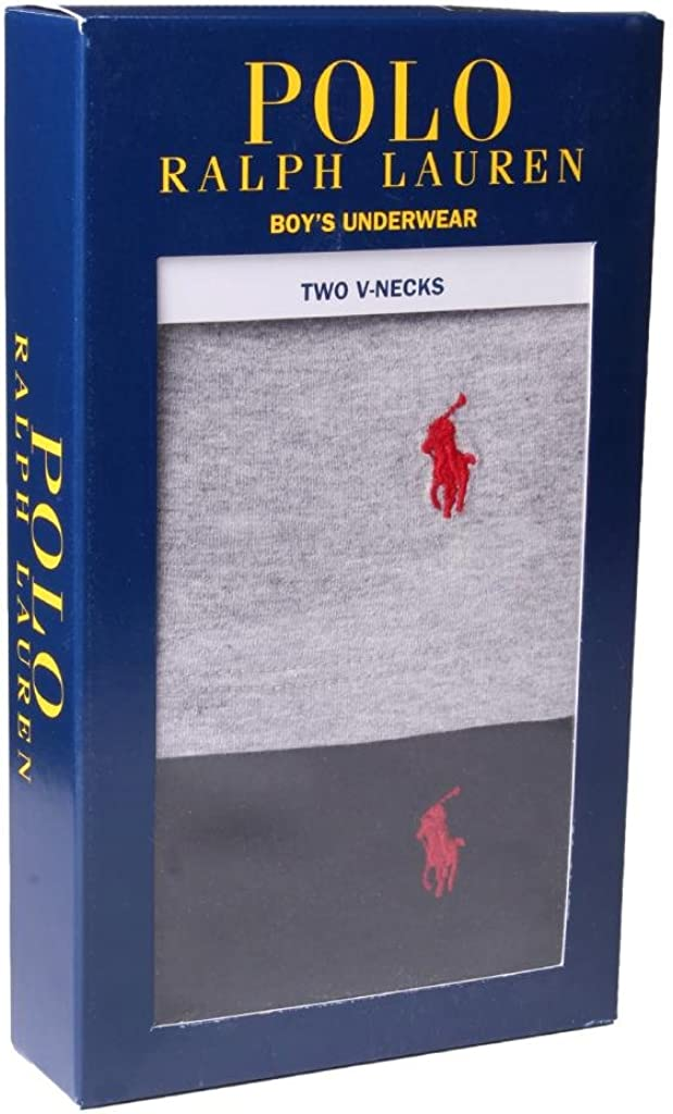 Polo Ralph Lauren Kids//Boys 2 Pack V-neck Undershirt
