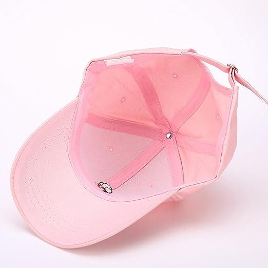 3613c9a06337e Llxln Helado Bordados Gorras Snapback Gorra De Béisbol Femenino Rosa  Ajustable  Amazon.es  Ropa y accesorios