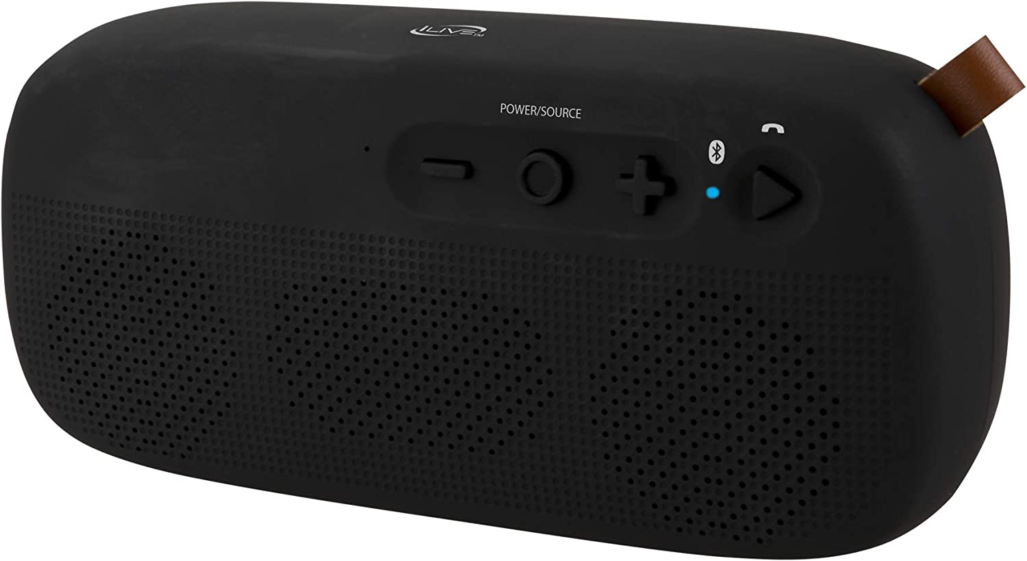 Ilive Water Resistant Wireless Speaker 8 27 X 1 8 X 3 82 Inches Built In Rechargeable Battery Black Isbw249b Home Audio Theater Amazon Com