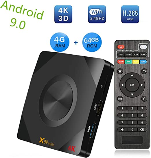 Android 9.0 Salida Caja androide TV Box de 4 GB 64 GB WiFi 5G Set Top Box Smart TV Box Soporte Ultra HD Media Player: Amazon.es: Hogar