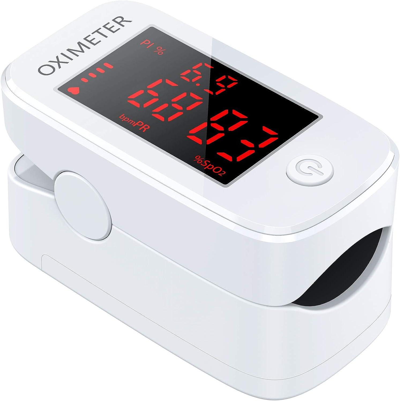 IDOIT Oxímetro dedo pulsioxímetro de dedo profesional oxímetro medidor de oxígeno en sangre portátil con pantalla OLED