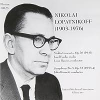 Violin Concerto, Symphony No. 3 (Barnett, Barzin, Noa)
