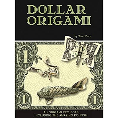 Dollar Bill Origami Kit - 80 Pg Book Has 10 Projects Shark Fish Camera Frog