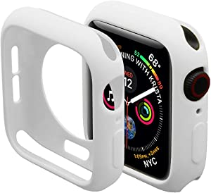 Miimall Compatible Apple Watch 38mm Case, Slim TPU Bumper Cover Anti-Scratch Protective Case Cover for Apple Watch Series 3 Series 2 38mm White