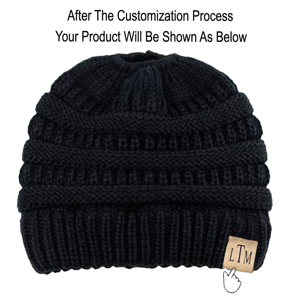 Greekgear Custom Monogrammed CC Messy Bun Beanies Black at Amazon Women s  Clothing store  03d3b28dc6f