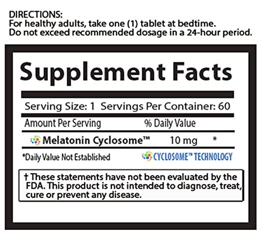 Amazon.com: Natures Essentials Melatonin 10mg (3mg Immediate Release & 7mg Extended Release) with Advanced Cyclosome Liposomal Delivery Technology - 60 ...