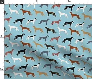 Los galgos los Galgos tela tela de abrigos de colores Tela, diseño de galgo de