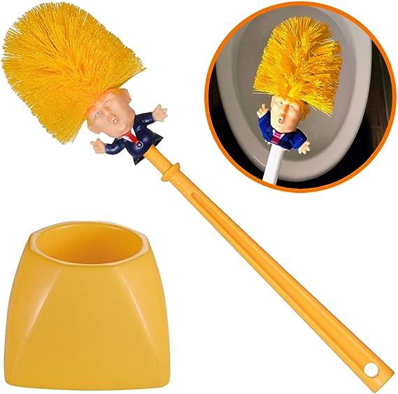 US Donald Trump hand made Toilet Bowl Brush Funny Gag Gift Christmas Xmas RF